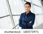 beautiful young career woman in ... | Shutterstock . vector #180573971