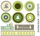 easter green banner set | Shutterstock .eps vector #180575375