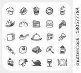 food icons set | Shutterstock .eps vector #180577784