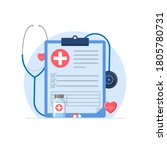 medical check up  medical... | Shutterstock .eps vector #1805780731