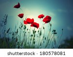 red poppies on summer meadow.... | Shutterstock . vector #180578081