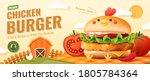 3d illustration of chicken... | Shutterstock .eps vector #1805784364