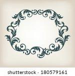 vector vintage border frame... | Shutterstock .eps vector #180579161