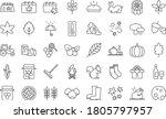 set of autumn season thin line... | Shutterstock .eps vector #1805797957