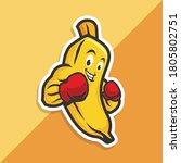 Boxing Banana Fruit Cute...