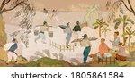 ancient china. tea ceremony....   Shutterstock .eps vector #1805861584