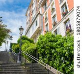 Paris  Romantic Staircase In...