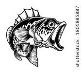 illustration of bass fish. big... | Shutterstock .eps vector #1805885887