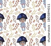 Seamless Pattern. Cute Little...