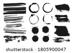 set of ink brush strokes ... | Shutterstock .eps vector #1805900047