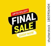 final sale banner  special...   Shutterstock .eps vector #1805906404