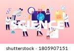 science concept. scientist... | Shutterstock .eps vector #1805907151