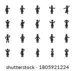 vector set of woman different... | Shutterstock .eps vector #1805921224