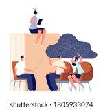 psychologist service. therapist ...   Shutterstock .eps vector #1805933074