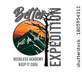 better expedition slogan with... | Shutterstock .eps vector #1805954311