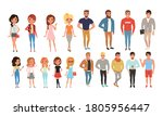 teenage boys and girls in...   Shutterstock .eps vector #1805956447