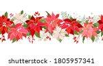 christmas poinsettia vector... | Shutterstock .eps vector #1805957341
