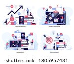 project management and... | Shutterstock .eps vector #1805957431