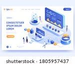 data visualization concept for... | Shutterstock .eps vector #1805957437