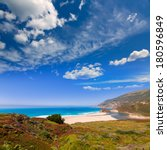 California Beach In Big Sur In...