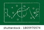 sport strategy on green field... | Shutterstock . vector #1805970574