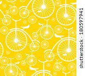 retro bicycle seamless pattern  | Shutterstock . vector #180597941