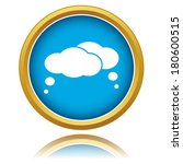 blue clouds icon on a white... | Shutterstock .eps vector #180600515