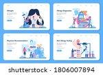 allergist web banner or landing ... | Shutterstock .eps vector #1806007894