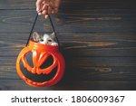 Happy Halloween. Cute Kitten...