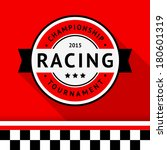racing badge 04  vector... | Shutterstock .eps vector #180601319