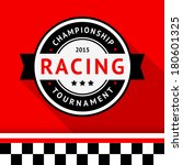 racing badge 09  vector... | Shutterstock .eps vector #180601325