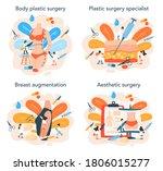 plastic surgeon concept set....   Shutterstock .eps vector #1806015277
