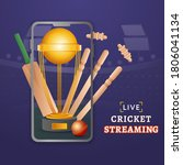 live cricket streaming in... | Shutterstock .eps vector #1806041134