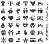 charity and donation icons....   Shutterstock .eps vector #1806044677