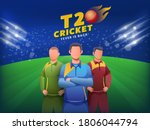 faceless cricketers player in... | Shutterstock .eps vector #1806044794