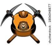 mine helmet logo  vector eps 10 | Shutterstock .eps vector #1806048877