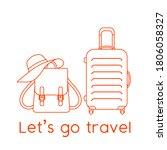 vector illustration suitcase ...   Shutterstock .eps vector #1806058327