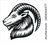 capricorn zodiac sign vector... | Shutterstock .eps vector #1806064477