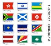 flags of world  flat vector... | Shutterstock .eps vector #180607841
