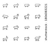 mammal animals line icons set ... | Shutterstock .eps vector #1806083221