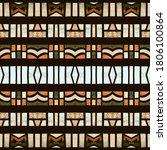 geometric bohemian ethnic... | Shutterstock . vector #1806100864