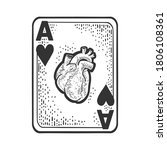 Ace Of Hearts With Human...