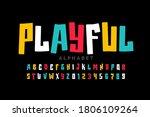 playful style font design ... | Shutterstock .eps vector #1806109264