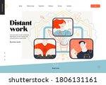 business topics   distant work  ... | Shutterstock .eps vector #1806131161