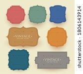 vintage frame labels set in...   Shutterstock .eps vector #1806143914