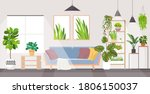 modern living room interior... | Shutterstock .eps vector #1806150037
