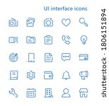 ui interface vector line icons...
