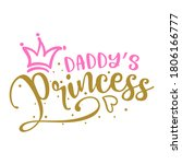 daddy's princess   baby shower... | Shutterstock .eps vector #1806166777