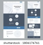 website landing page wireframe...
