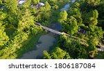 view drone. green landscape of... | Shutterstock . vector #1806187084